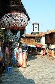 Colorful Glass Lamps At Market Of Old Nesebar Island, Famous Resort In Bulgaria