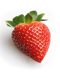 stock photo of heart shape  - a strawberry - JPG