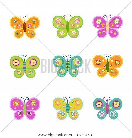 Retro Butterfly Set
