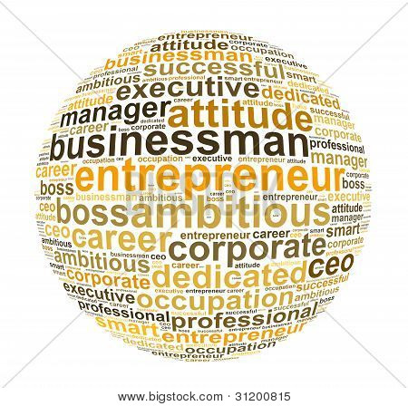businessman and entrepreneur info text graphic and arrangement concept