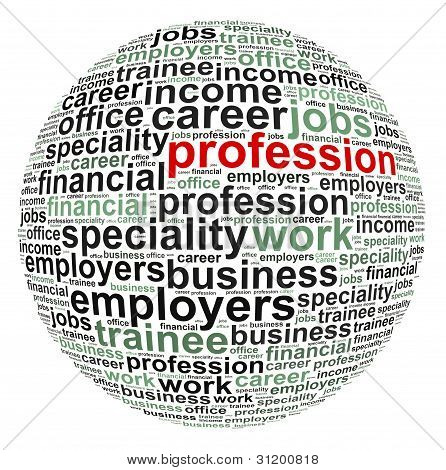 Profession info text graphic and arrangement concept