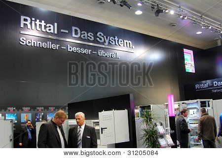 Hannover, Germany - March 10, 2012: Stand Of The Rittal In Cebit Computer Expo, Hannover, Germany. C