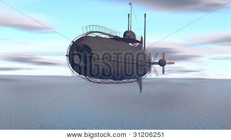 Zeppelin sobre o mar