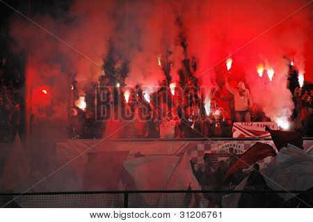 FC CFR Cluj soccer supporters