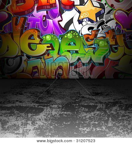 Graffiti Wall Background. Urban Art cool Grunge design