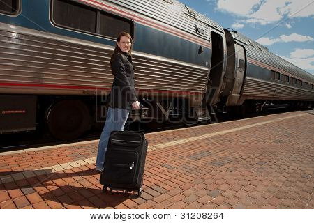 Getting On A Train