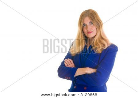 Serious Business Woman With Arms Crossed