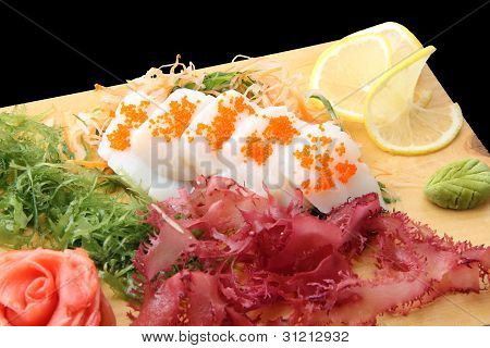Sashimi Hotate On A Board