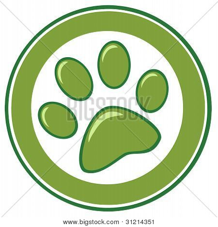 Green Paw Print Banner