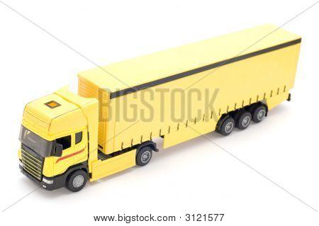 Truck On White