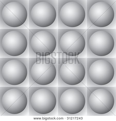 Volumetric Pattern - Gray Spheres And Squares