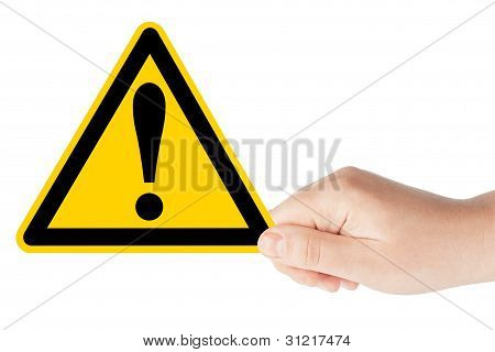 Danger And Hazard Sign In Hand