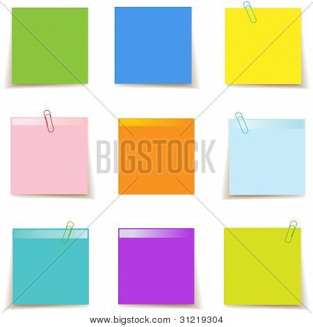 Sticky Post It Notes Colorful