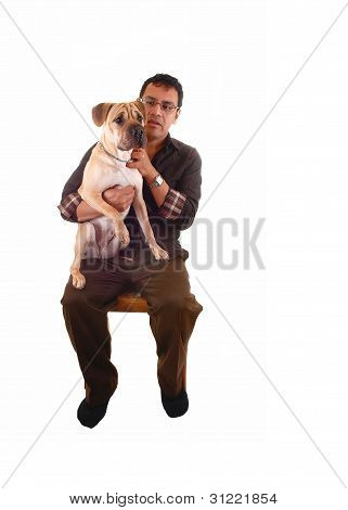 Man With Dog.