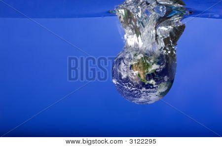 World Sinking In Water