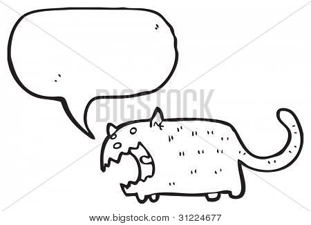 cartoon angry cat