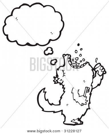 big bad wolf gargling mouthwash