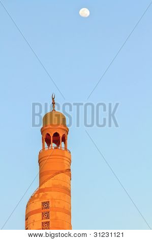 Arabic Mosque And Moon