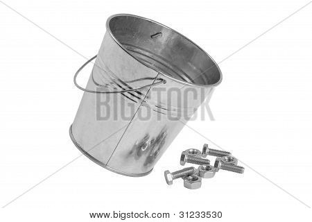 A Bucket Of Bolts And Nuts