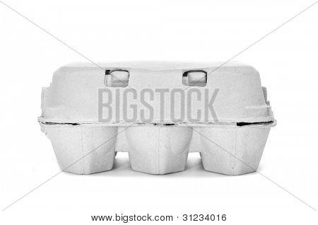 egg carton on a white background