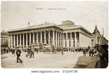 Paris Bourse Postcard