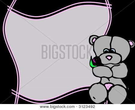 Frame With Teddy Bear