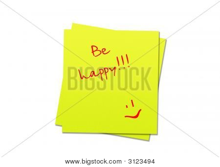 Sticky Note Be Happy