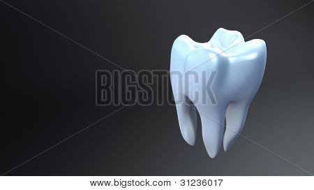 Teeth Black Background
