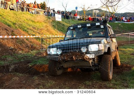 An unknown driver/team participating on Third TT Jeep Tour