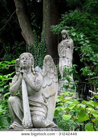 Angels monument in the cemetery