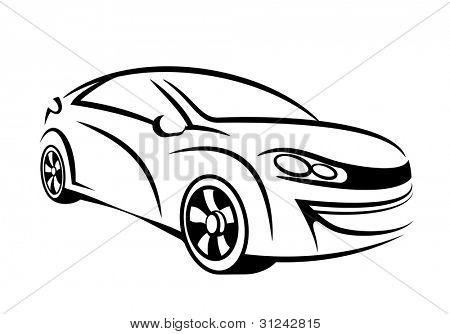 Arte de la línea de coches