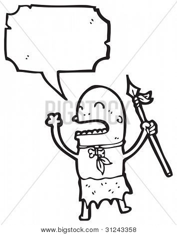 primitive tribesman cartoon