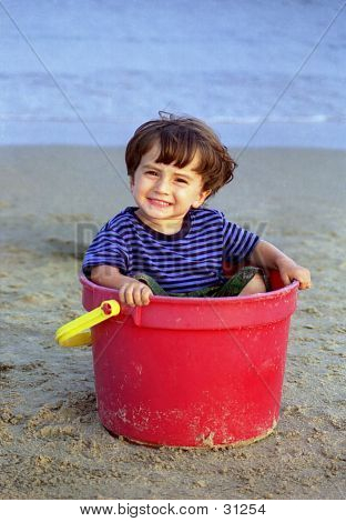 Boy In A Bucket