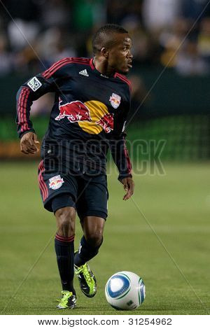 CARSON, CA. - MAY 7: New York Red Bulls M Dane Richards #19 in action during the MLS game between the New York Red Bulls & the Los Angeles Galaxy on May 7 2011 at the Home Depot Center in Carson, CA