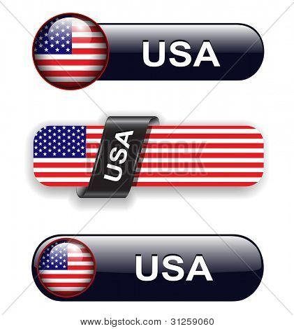 USA, american flag banners, icons theme.