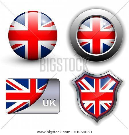 United Kingdom; UK flag icons theme.