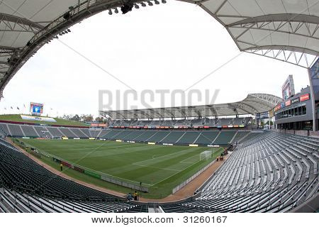 CARSON, CA. - MAY 7: A general view of the interior of the Home Depot Center before the MLS game between the New York Red Bulls & the Los Angeles Galaxy on May 7 2011 at the Home Depot Center in Carson, CA.