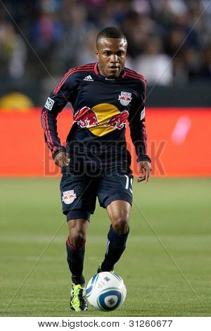 CARSON, CA. - MAY 7: New York Red Bulls M Dane Richards #19 in action during the MLS game between the New York Red Bulls & the Los Angeles Galaxy on May 7 2011 at the Home Depot Center in Carson, CA.