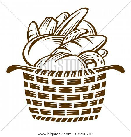 different breads in the basket