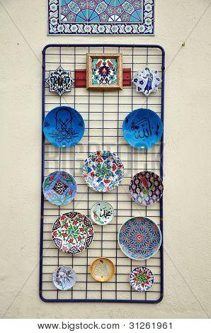 Konya Turkey October 29:Ceramic Plateware on October 29, 2010 in Konya Turkey