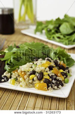 Quinoa Salad With Mixed Greens