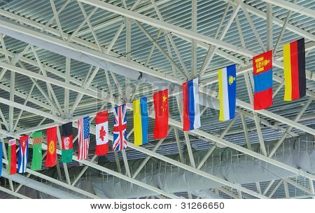 State Flags Under Ceiling
