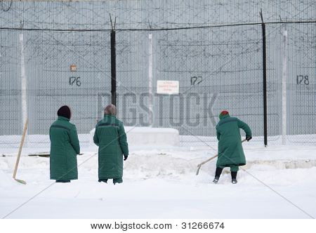 Snow Removal At Female Prison