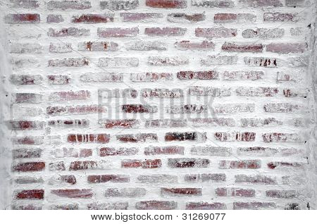 Under construction of brick wall using as Construction background