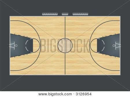 Basketball court stock photo stock images bigstock for How big is a basketball court