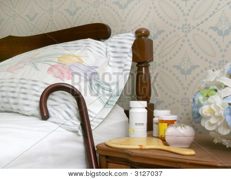 Pills On A Bedside Table