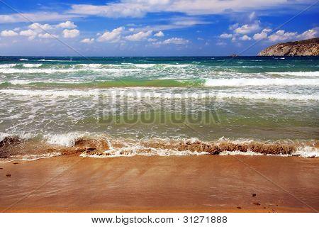 Greece. Rhodes. Prasonisi . A windsurfing resort