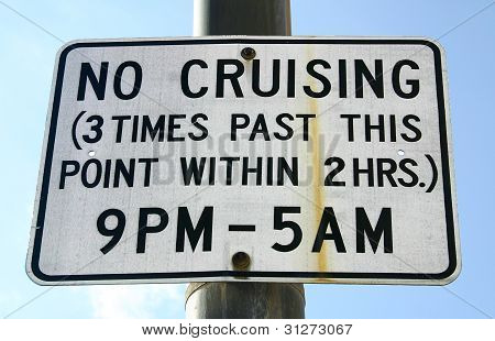 No Cruising