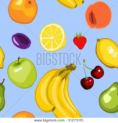 Seamless Summer Fruit Background