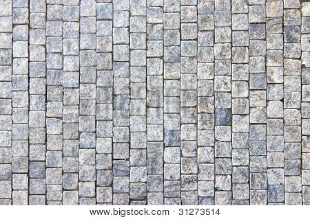 Granite Cobblestoned Pavement Background